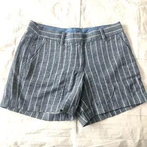 J Crew striped dress shorts size 4 blue